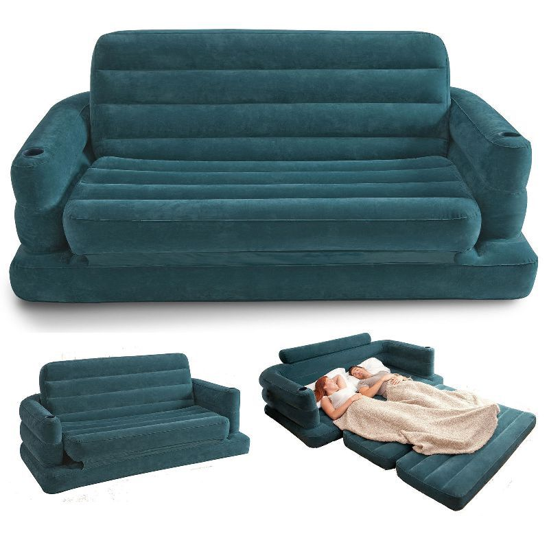 Free shipping inflatable sofa bed couch intex furniture for Pull out couch