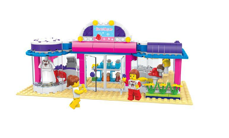 F10402 32213N 258pcs CITY GIRLS Shopping Mall 3D DIY Plastic Building Bricks Blocks Sets Children Kids Toys(China (Mainland))