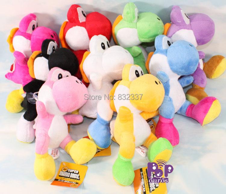 Super Mario Bros Action Figures Yoshi Dragon Plush Toys 9pcs/set Soft Doll Best gifts - Shenzhen Ouros Technology Co., Ltd store