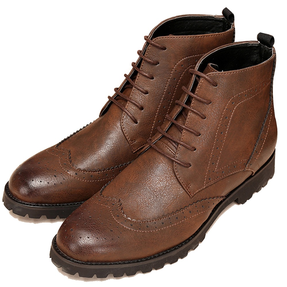 Elegant Stylish Quality Wax Leather Ankle Oxford Boots ...