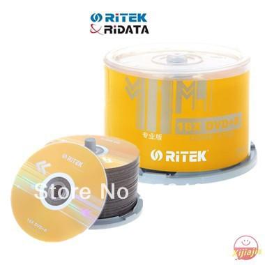 HOT-2013NEW,Ritek Blank DVD+R,Professional series ,High quality A+ Grade,4.7G,1-16X,120min,50discs,Free shipping(China (Mainland))