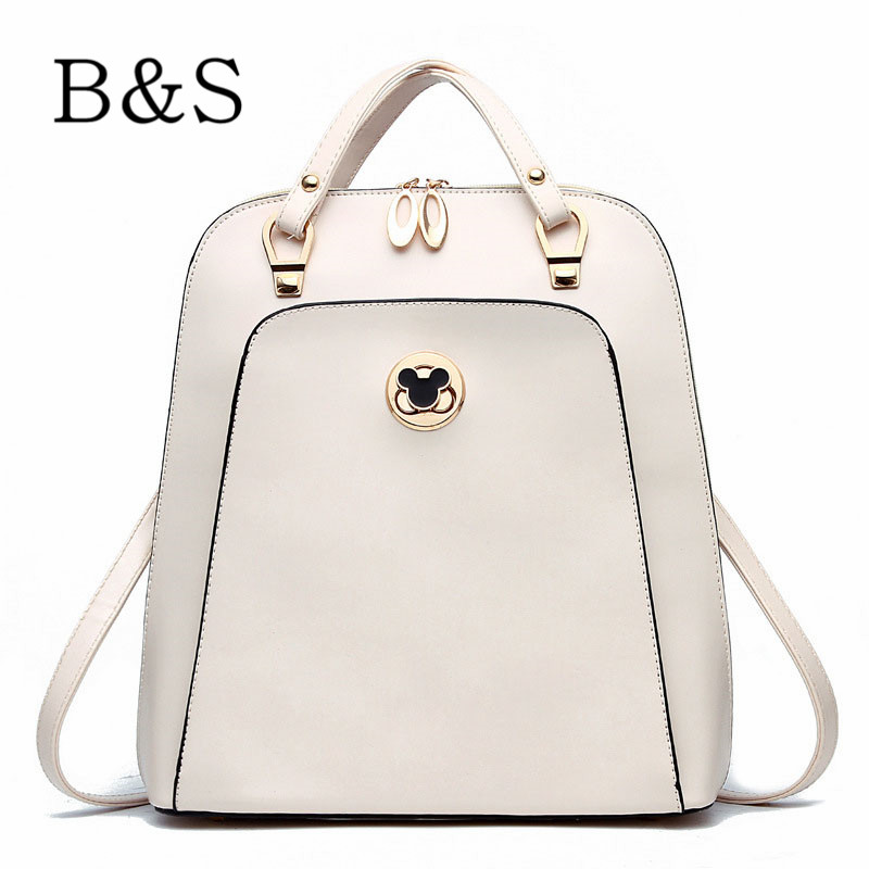 Fashion Leather Cartoon Women Backpacks High Quality 9 Colors Student School Bags Famous Brand Rucksack For Teenagers Girls 2016(China (Mainland))