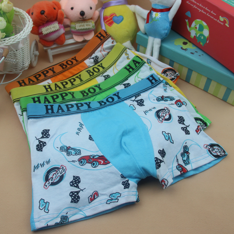 2015 New cuecas 4Pcs Baby Boys Briefs Fashion Boxer Underwear Kids Cute Cartoon Panties Children Soft