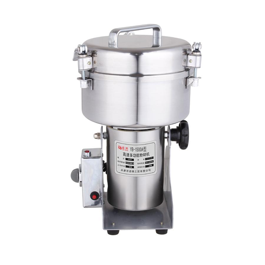 YB-1500A (1500g) Medicine Spice Herb Salt Rice Coffee Bean Cocoa Corn Pepper Soybean Leaf Mill Powder Grinder Grinding Machine(China (Mainland))
