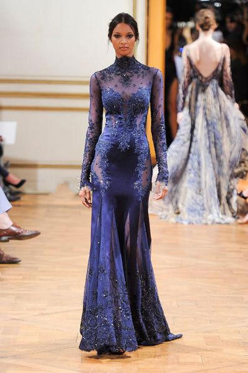 Hot-Sale-High-Neck-Mermaid-Arabic-Celebrity-Dresses-Floor-Length-Appliques-Beaded-Evening-Dress-free-shipping (2)