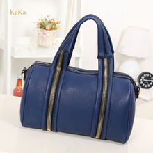 KaKa High Quality 2015 New Fashion PU Leather Handbags Ladies Serpentine Totes Women Famous Brands