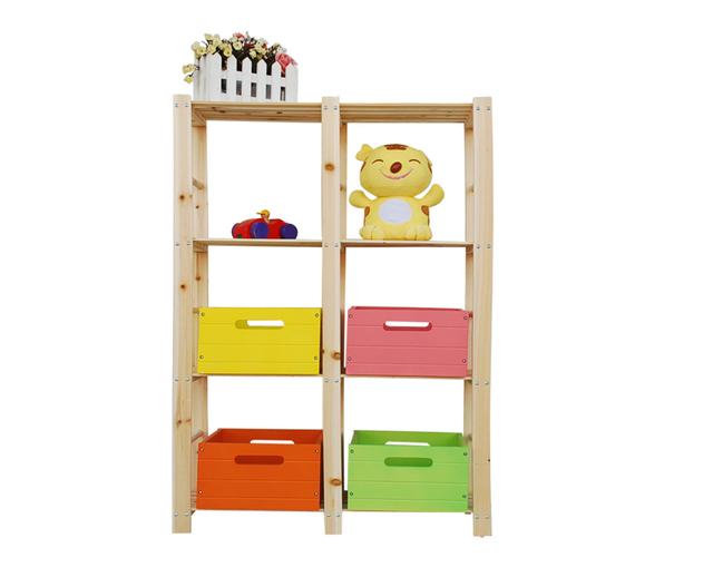 Wood shelves bookcase DIY Furniture set Easy install bookcase wood shelves storage rack flower shelf gift frame