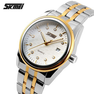 In 2015, the new moment! Watch waterproof steel strip Shi Yingnan table calendar world time watch business and leisure travelers(China (Mainland))