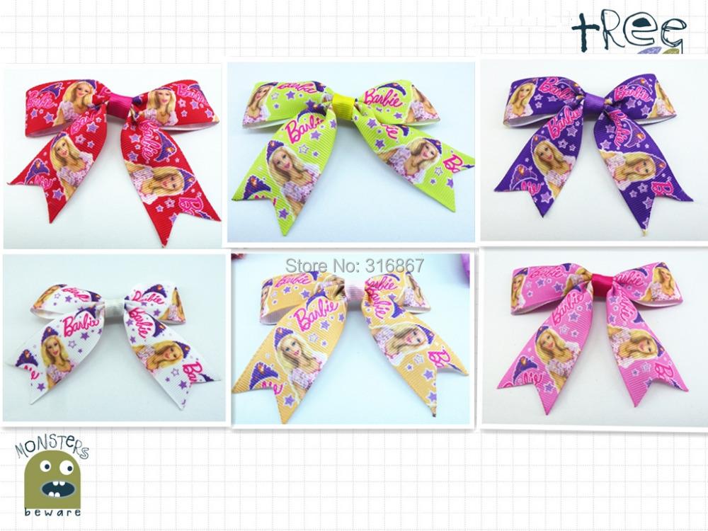 "12pcs 3.5"" Baby Girl Toddlers princess Boutique Bows girl hair Accessories Ribbon Bow Hair clips HD1412-26(China (Mainland))"