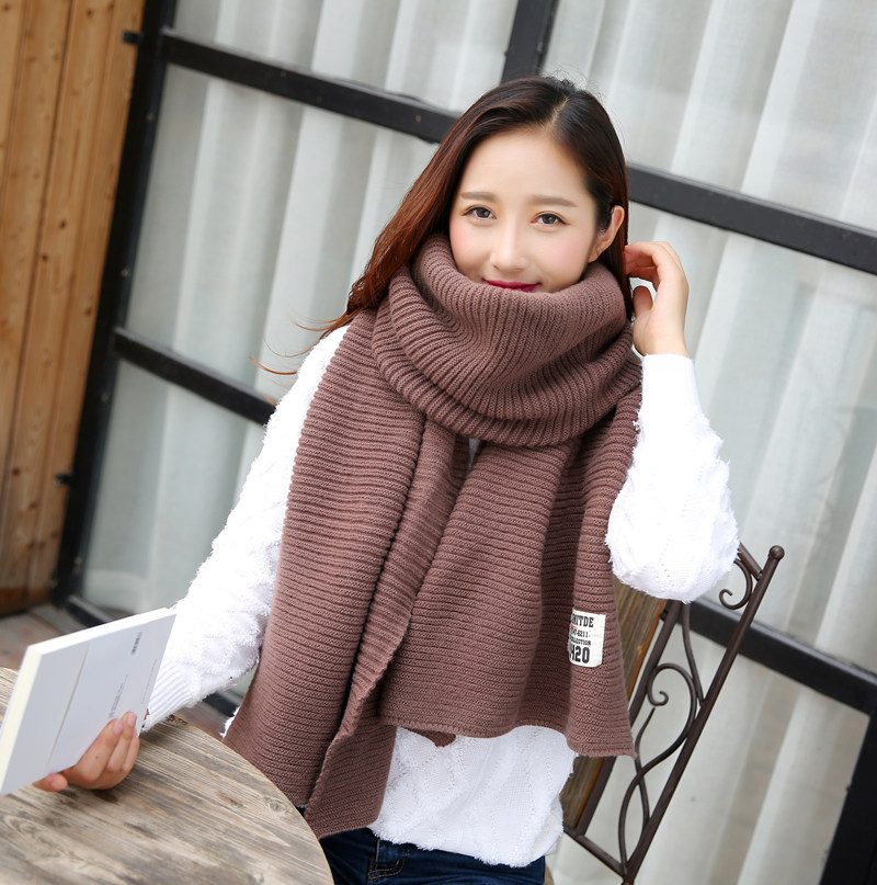 2016 Fashion Scarf New labeling Knitted Women Cotton Scarves in autumn winter super long thick warm scarf bufandas mujer