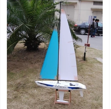 75cm long big remote control boats classic rc sailing boat hull full set model power boat gift boat Shopping toys free shipping(China (Mainland))