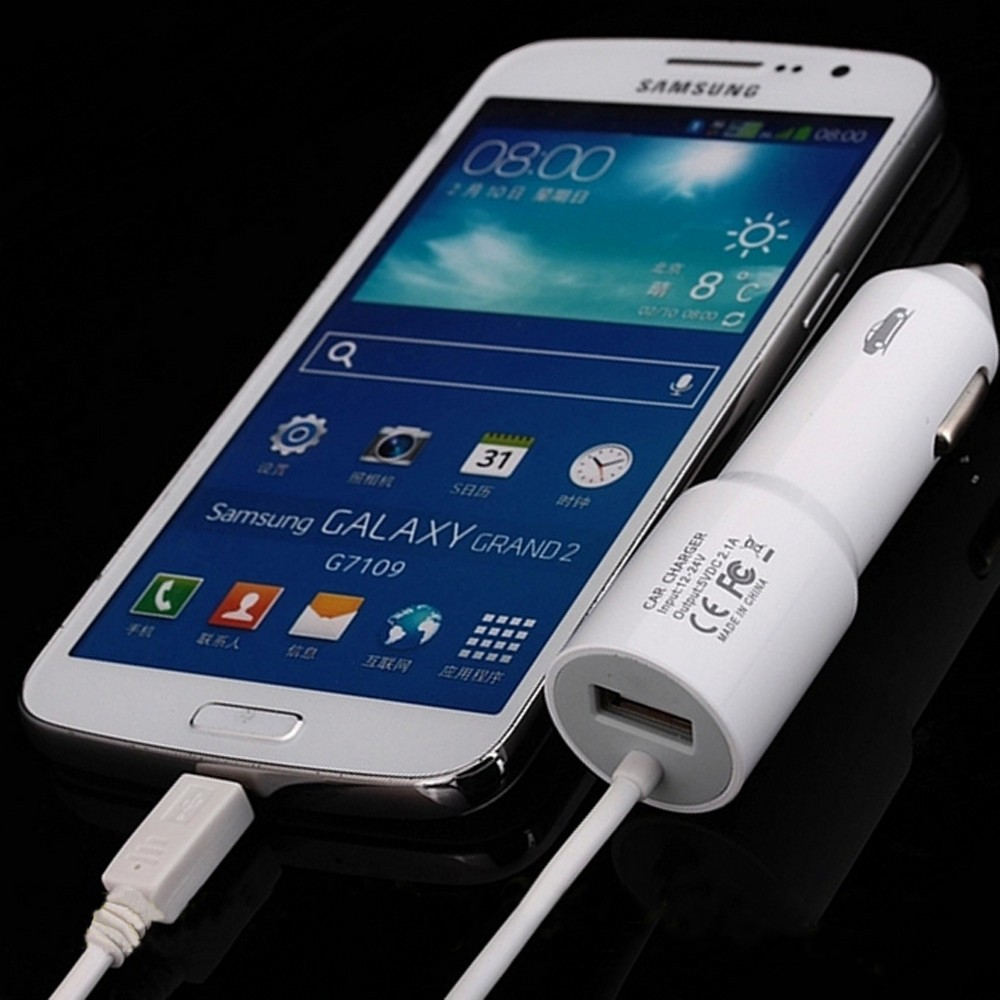 5V 2.1A New Fast Charging Micro Extend USB Mini Car Charger Cable For Android Phone Samsung LG HTC