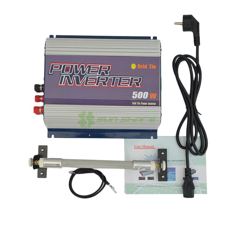 Free shipping! 500w wind grid tied inverter with wind controller 3phase input AC 10.8V-30V output.AC 90V-140V,190V-260V(China (Mainland))