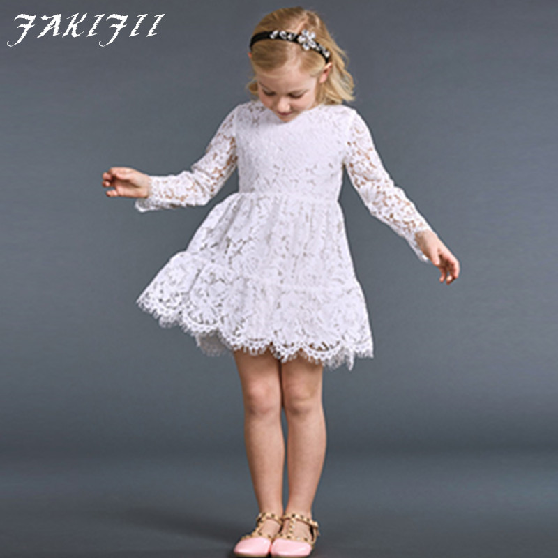 free shipping 2016 Girl Dress Sleeveless Baby Girl Dresses Brand Kids Dresses Summer Autumn Girls Lace Dress Baby Kids Clothes