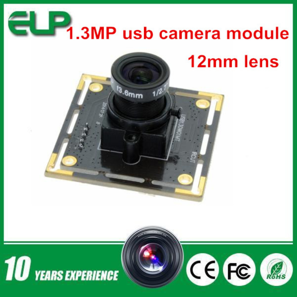 12mm lens 1.3MP 1280X960 HD Aptina AR0130 Black And White monochrome cmos android UVC USB Camera  <br><br>Aliexpress