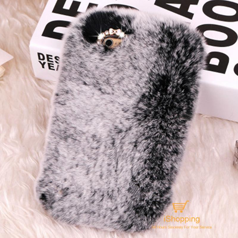 Luxury Real Soft Rabbit Fur Case For Huawei Ascend Mate 7 Rhinestone Case for Huawei Ascend Mate 7 Honor 6 6 Plus 7 Phone Case(China (Mainland))