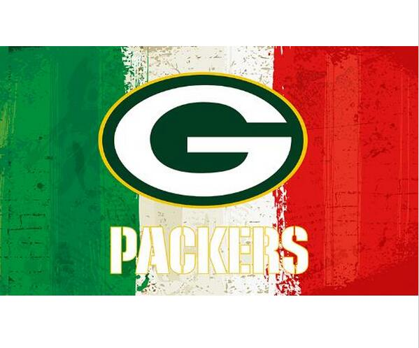 3x5ft Green white red Stripes Green Bay Packers flag new style oil painting style flag with 2 Metal Grommets 90x150cm(China (Mainland))
