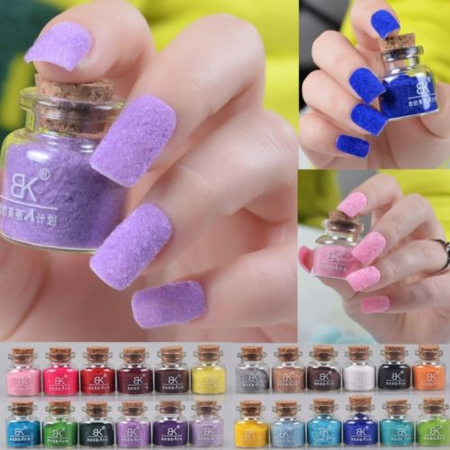 19 Colors Velvet Flocking Dust Powder Set Decoration Polish Nail Art Tip Design, Cheap Nail Polish esmalte para unha(China (Mainland))