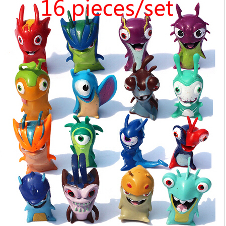Hot -16pcs/lot Slugterra Figures PVC Action Figures Dolls Children Toy model for Birthday Gift Free Shipping(China (Mainland))