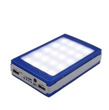 Outdoor LED lights 12000 mah Solar Charger Battery 12000mAh Solar Panel Dual Charging Ports portable power bank for Cell Phone(China (Mainland))