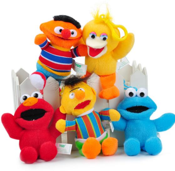 Gift price ! Cartoon Anime Baby Plush Toy Doll Sesame Street Elmo Bert Collectible Classic gift Value-added(export grade)(China (Mainland))