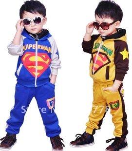 wholesale! boy's tracksuit autumn long sleeve kid's outfits children 2pcs sportwear cloth set(China (Mainland))