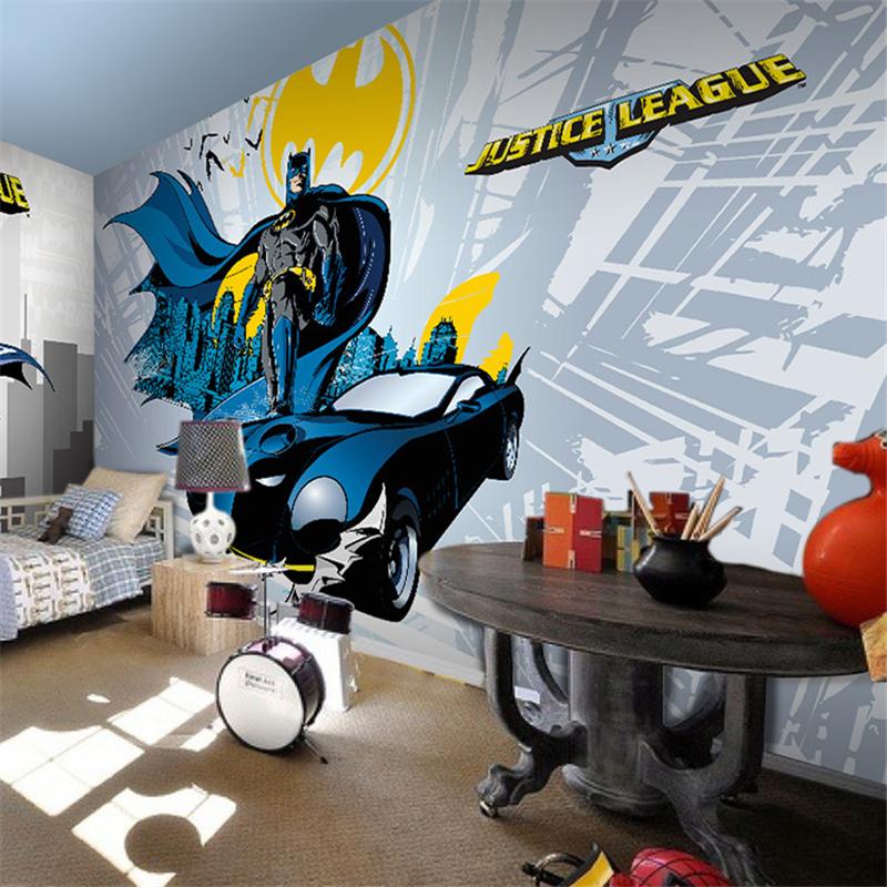 papel de parede seamless large mural of batman cool children 39 s bedroom