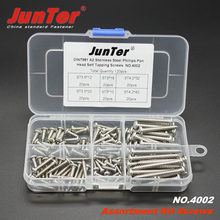 Buy 120pcs DIN7981 A2 Stainless Steel Phillips Pan Head Self Tapping Screws Assortment Kit NO.4002 for $12.99 in AliExpress store