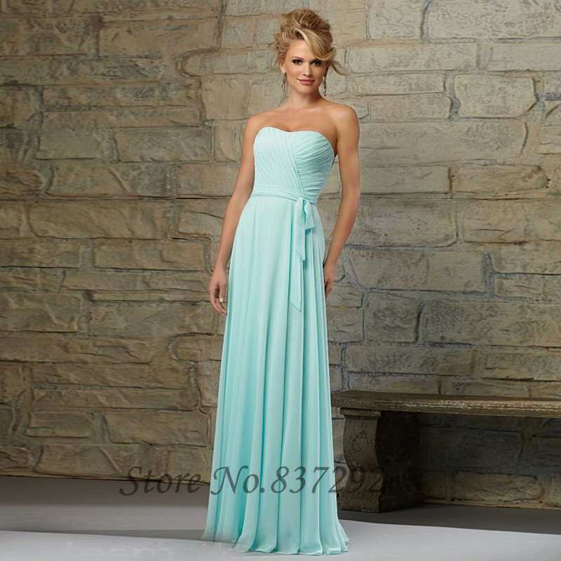 New fashion mint green bridesmaid dresses strapless 2016 for Strapless wedding guest dresses