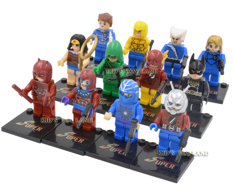 12pcs/lot The Avengers ant man Magneto the Quicksilver minifigures The Avengers building block toys toy bricks(China (Mainland))