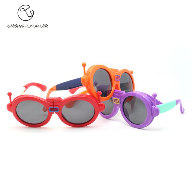 Робот мультфильм складной дети очки поляризационные анти ультрафиолетовых лучей солнечные очки детей cs11881p