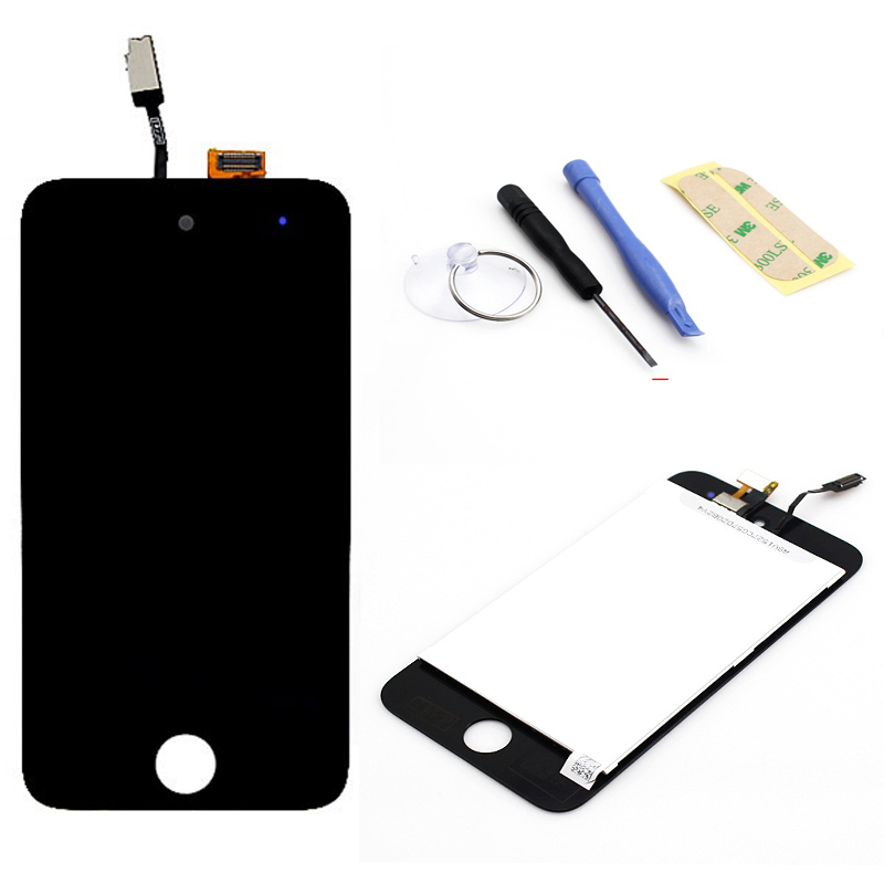 For ipod touch 4 4G LCD Display Touch Screen Digitizer Assembly+Open Tools, Black free shipping+Tracking No.(China (Mainland))