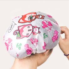 Cute cartoon shower cap Waterproof bath cap Environmental protection bath cap Waterproof Bathing Cap Hat for Women Men(China (Mainland))