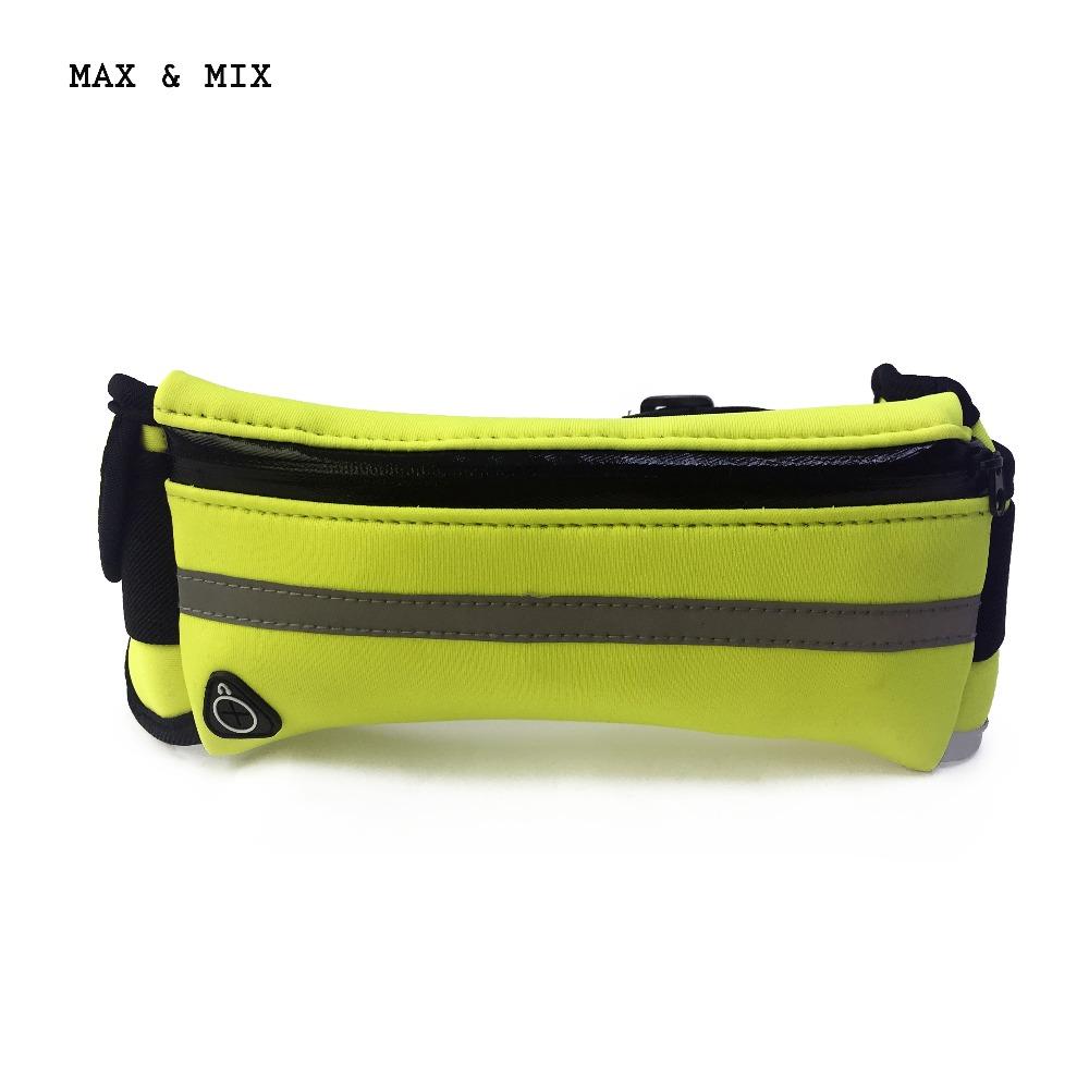 MAX&MIX men women waist bag sporting neoprene material waterproof portable multifunction waist bag high quality(China (Mainland))