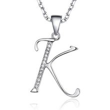 "[Yinfeng] The Classic Micro insert zircon  Letter Necklace  ""K""(China (Mainland))"