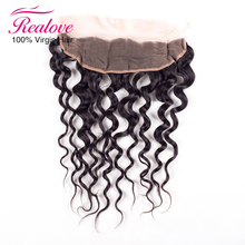 7A Brazilian Closure Natural Wave Virgin Hair Lace Closure Ear To Ear Lace Frontal Full Frontal Lace Closure 13x4 Bleached Knots(China (Mainland))