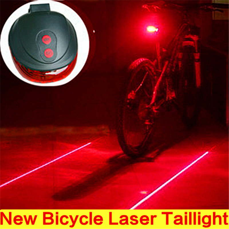2016 New Bicicleta Sale Bicycle Laser Taillight Rear Lamp Bike Waterproof Headlight Warning Flashing Cycling Tail Light 7 Mode - Bdien Store store