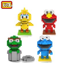 LOZ Sesame Street Toys Elmo Big Bird Cokkie Monster Oskar the grouch Diamond Building Block Model Toy(China (Mainland))