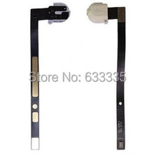 30pcs Audio Jack Headphone dock flex cable for ipad air for ipad 5 A1474 A1475 A1476 earphone white black free shipping