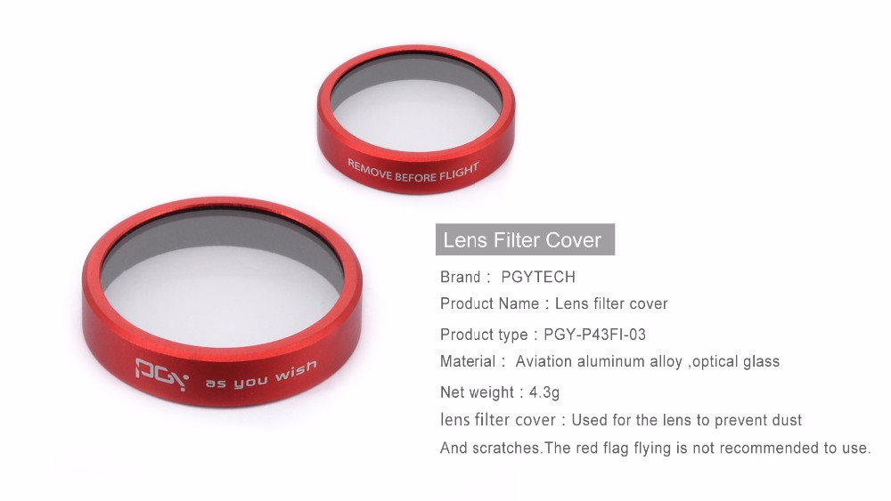 PGY Lens cover Filters cover for DJI phantom 4 phantom 3 Gimbal Camera protection Filter UAV Quadcopter drone parts accessories