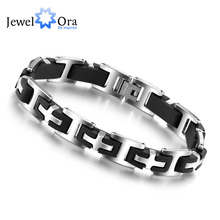Hot Selling Stainless Steel Bracelets & Bangles Fashion Jewelry 215mm 304 Stainless Steel Men's Bracelets (JewelOra BA100163)(China (Mainland))