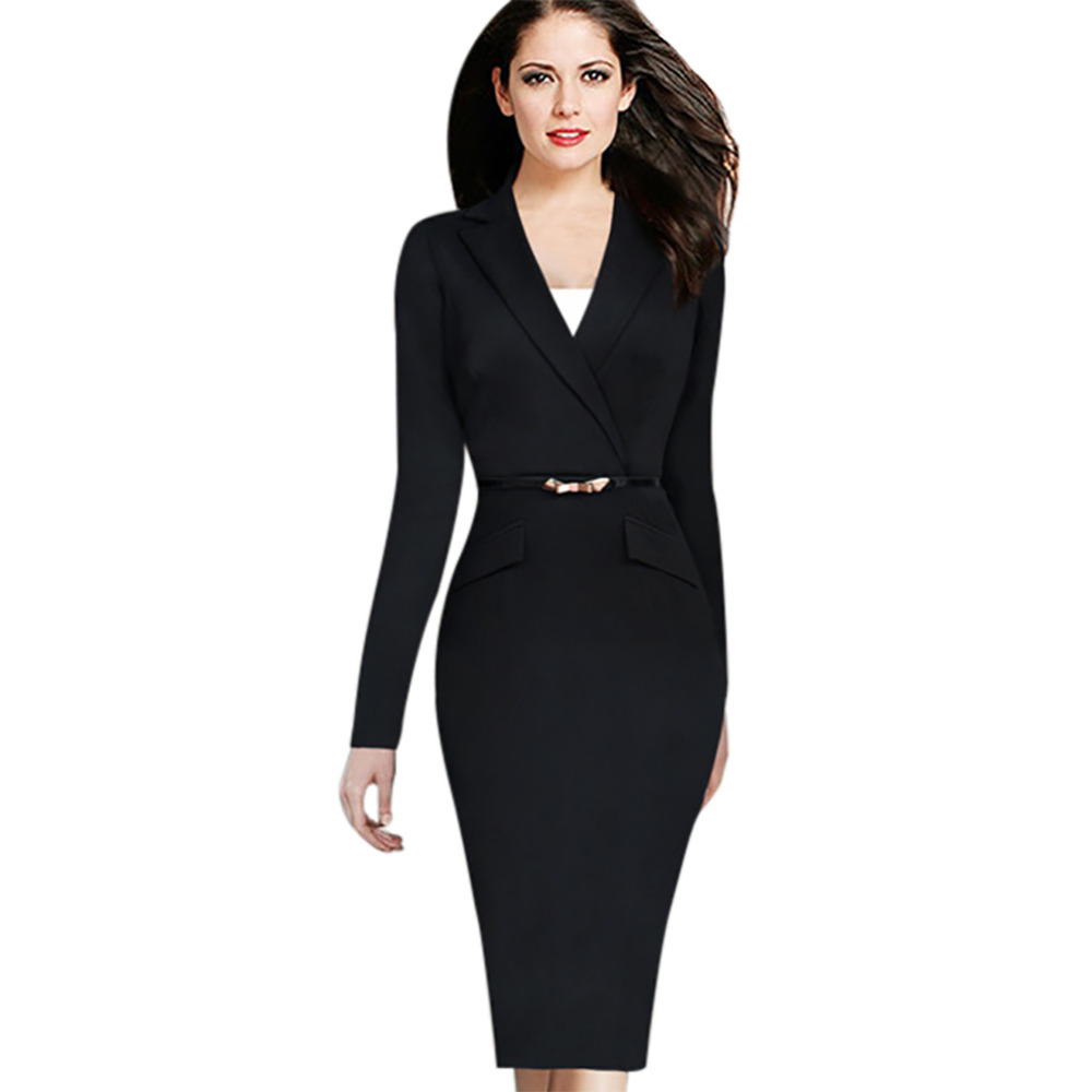 black dress suit for women with awesome example in