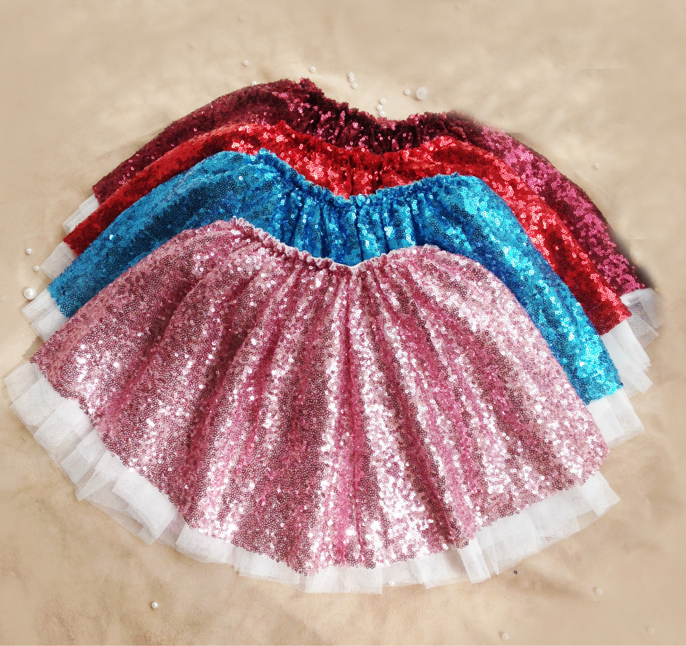 2016 Baby Girls Tulle Lace Skirts Kids Girl Summer Style Sequined Skirt TuTu Princess Babies Clothes - Miss2010 store