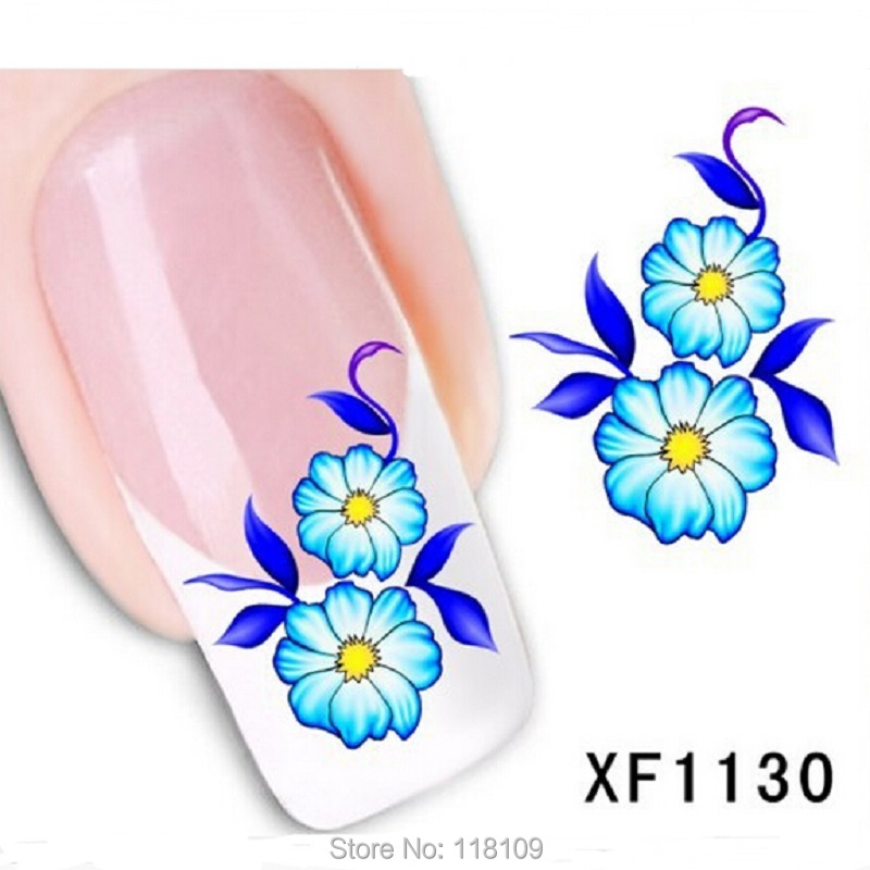 2sheet Water stickers for nails XF1130 nails sticker art beauty foil followers gel polish New Fashion Nail Arts nail polishes(China (Mainland))