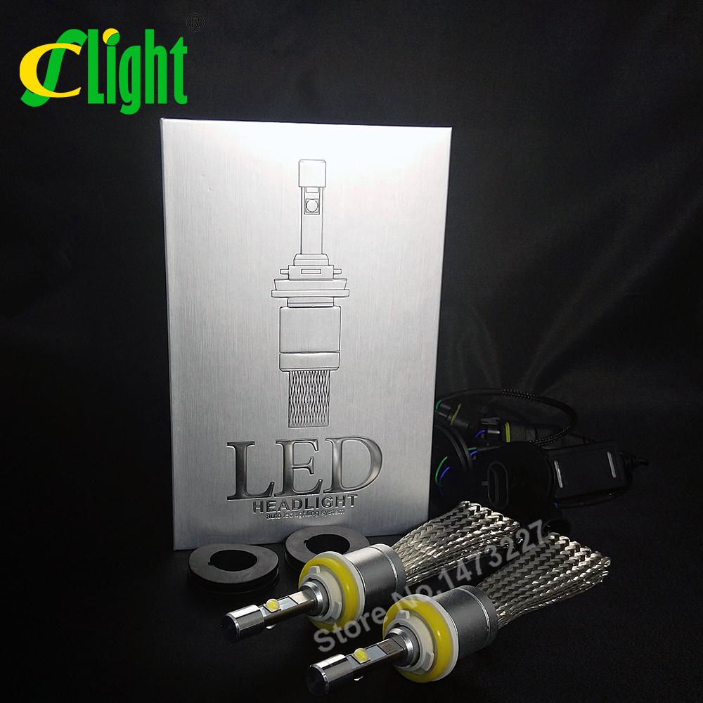CNSUNNYLIGHT Super Bright 9600lm H11 H8 H9 Xenon 6000K Car LED Headlight Conversion Lamp Kit Auto Fog Light Bulb With Cree Chips(China (Mainland))