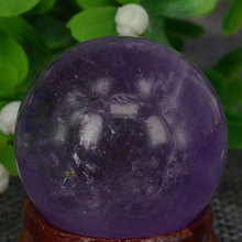 (1.2″) 30MM Natural Gemstone Amethyst Sphere Crystal Globe Ball Chakra Healing Reiki Stone Carving Crafts,Minerals
