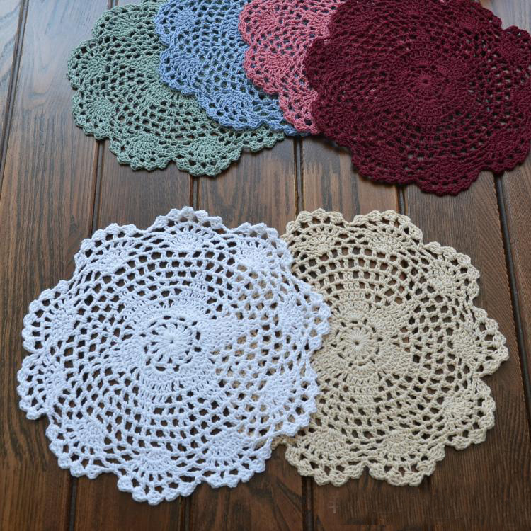 20cm78quot 12Pcslot Hand Made Crochet DoilyPlacemat  : 20cm 7 8 12Pcs lot Hand Made Crochet Doily Placemat Coasters Placemat Set Shabby Chic from www.aliexpress.com size 750 x 750 jpeg 294kB