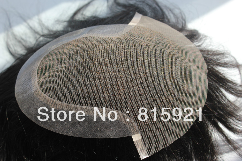 Natural Hairline Toupee Men Swiss Lace Pu Base Indian Human Hair Piece - EJS Shop store
