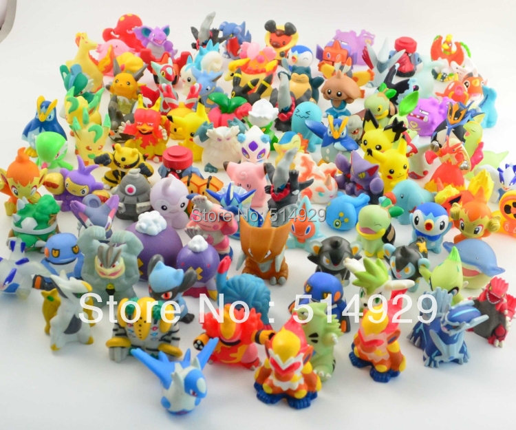 48pcs Pokemon Pikachu Action Figures 2-3cm to worldwide robot toys(China (Mainland))