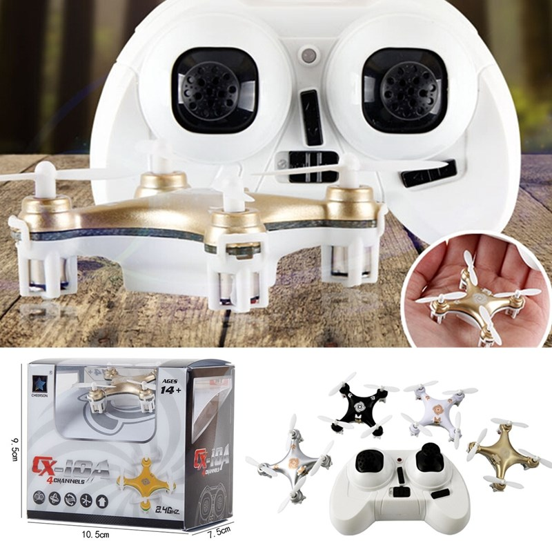 2015 Hot Sale Mini RC Helicopter Cheerson CX-10A CX10A Headless Mode 2.4G 4CH 6 Axis RC Quadcopter RTF 4Colors(China (Mainland))